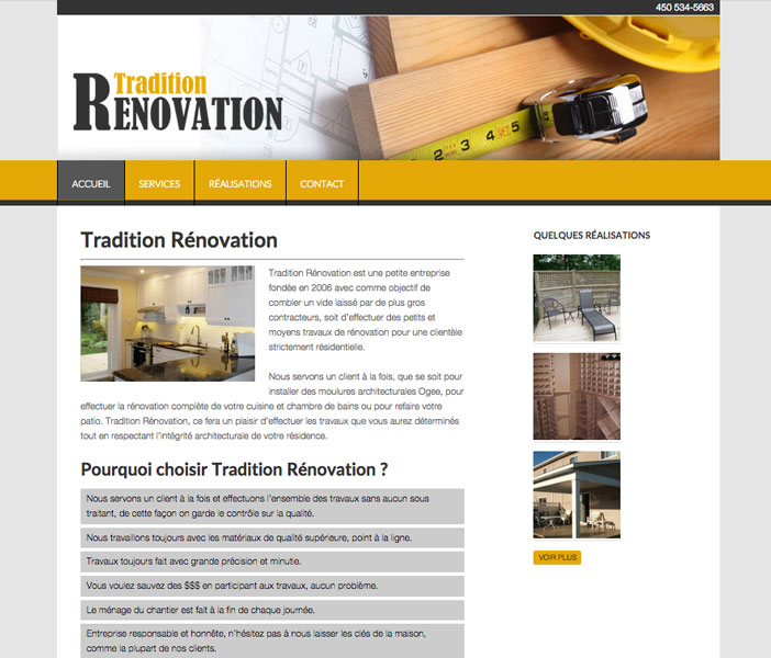 Tradition Rénovation